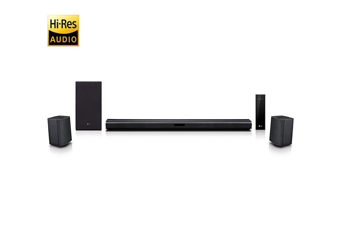 Lg Sj4r Sj4r 4 1 Channel Sound Bar Surround System With Wireless Surround Sound Speakers Lg Usa