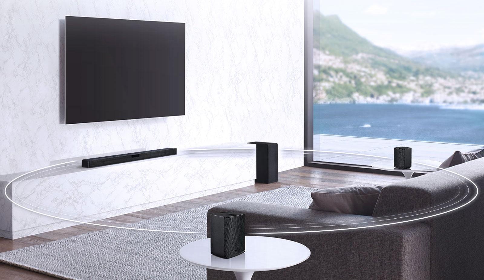 Lg Slm4r 420w Sound Bar W Bluetooth Streaming And Surround Sound Speakers Slm4r Lg Usa