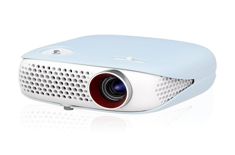 Compact Pebble Design Smart Minibeam Projector