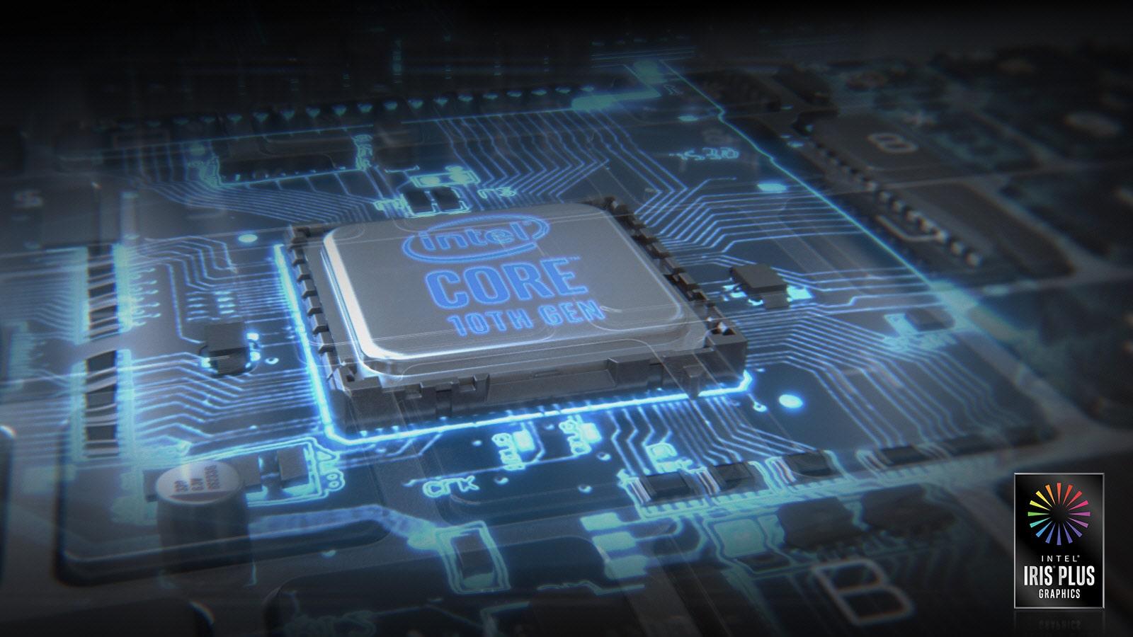 Image of Intel processor with Intel Core logo