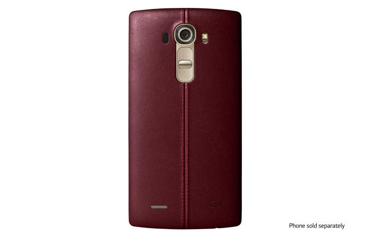 super popular ec161 29f42 LG Genuine Leather Back Cover for LG G4™ Red for Sprint | LG USA