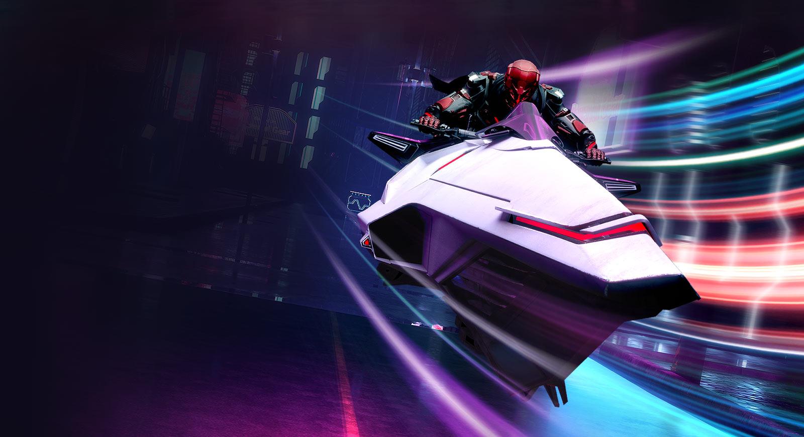 Gaming graphic demonstrating speed