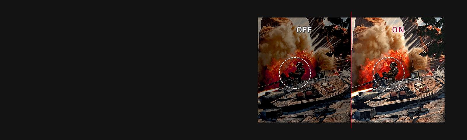 Black Stabilizer : OFF VS. ON