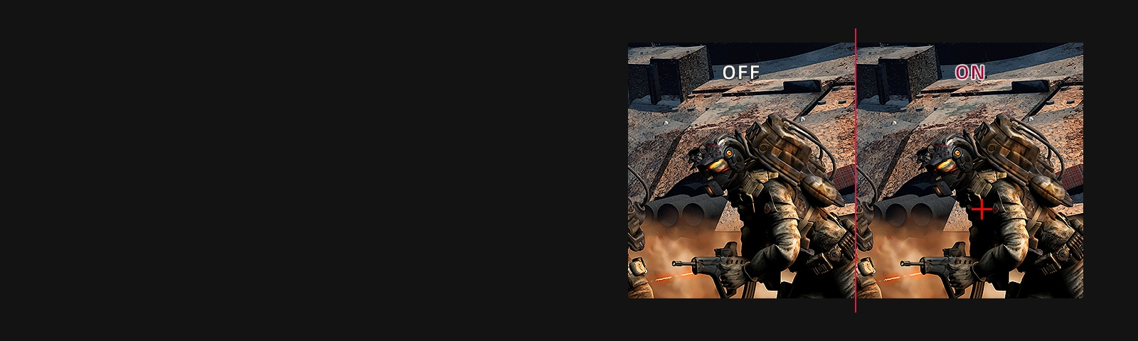 Crosshair : OFF VS. ON