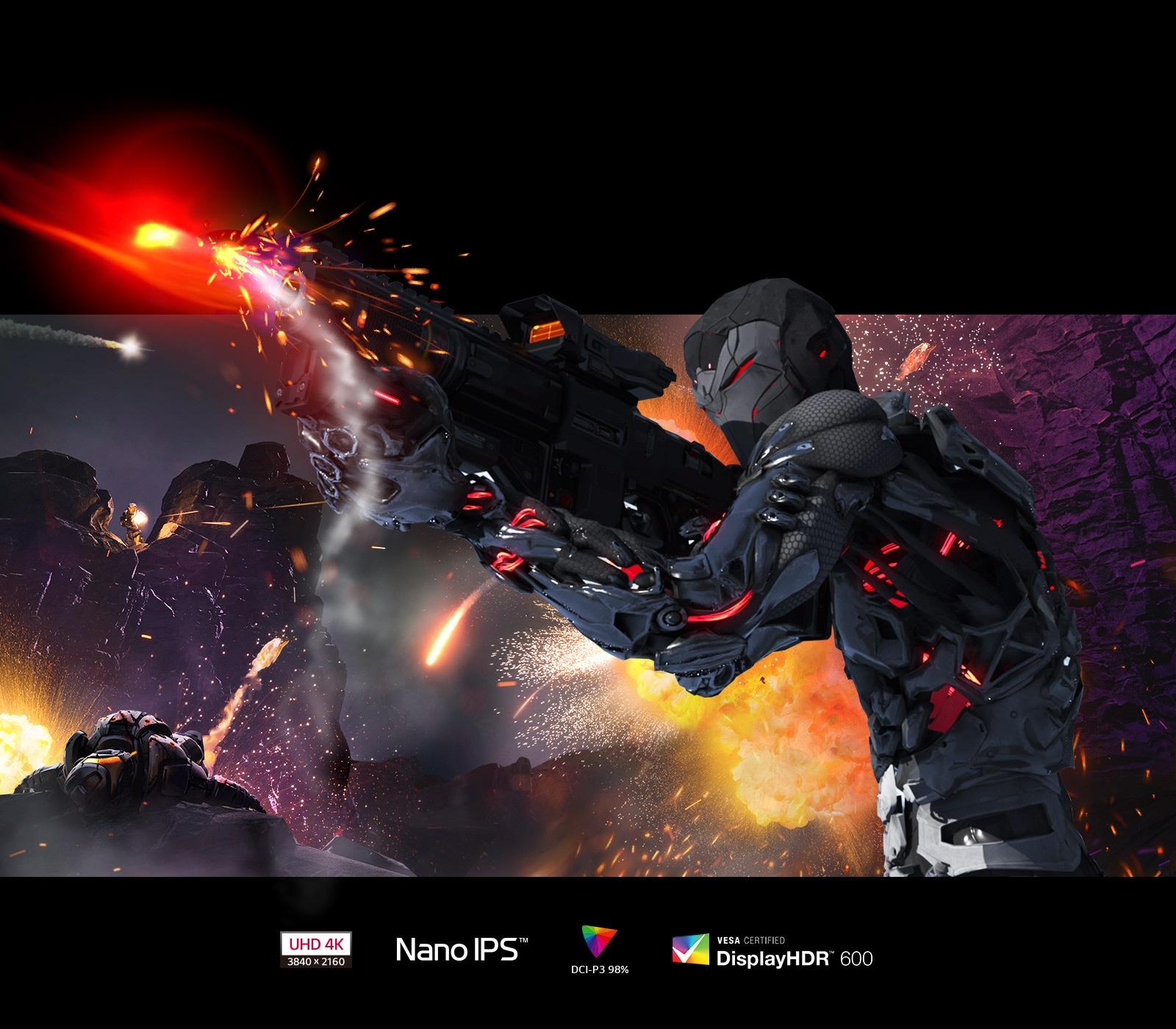 Nano IPS, VESA Display HDR ™ 600 technology provides vibrant colors and details.