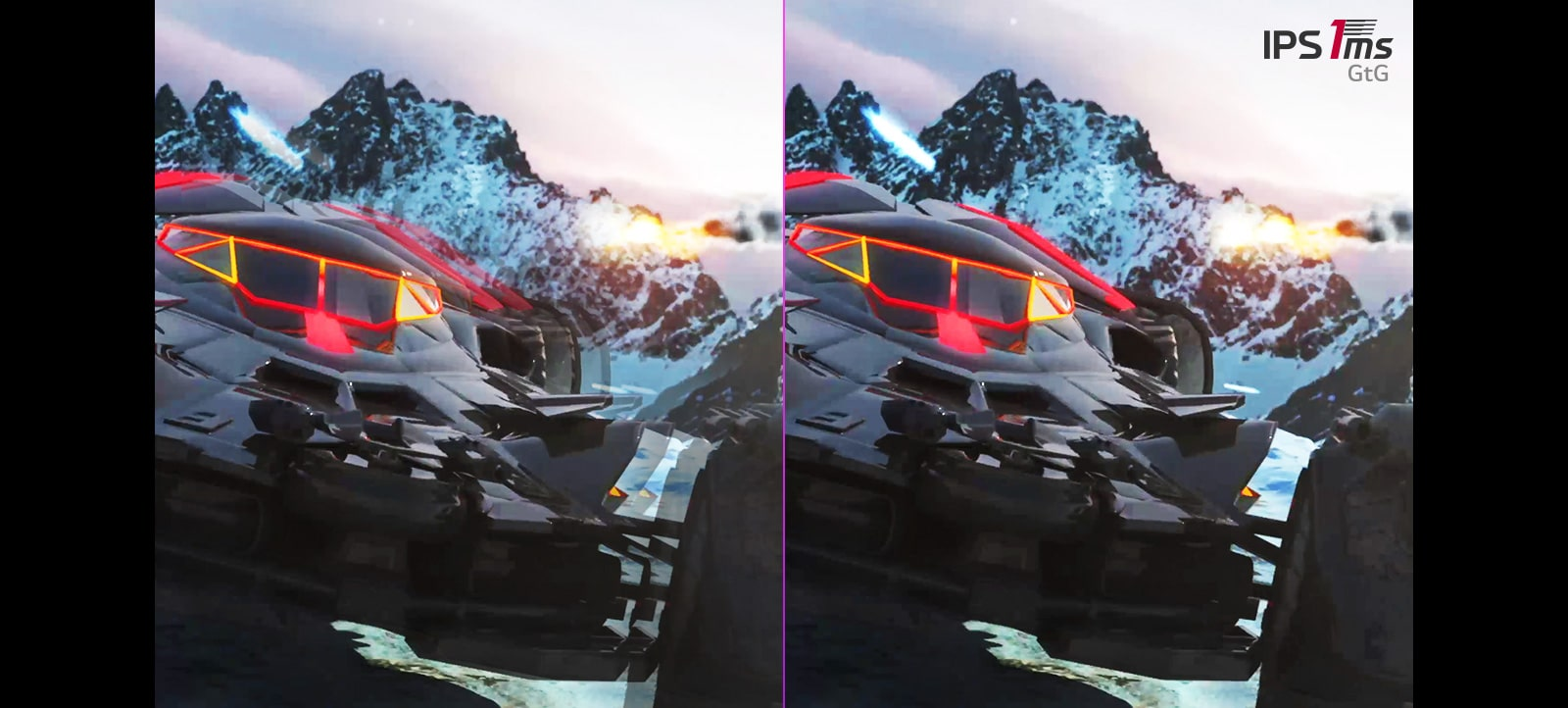 comparison of the afterimages with IPS 5ms and with IPS 1ms