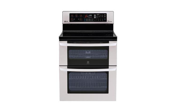 LG LDE3037ST: 6.7 cu. ft. Capacity Electric Double Oven Range with ...