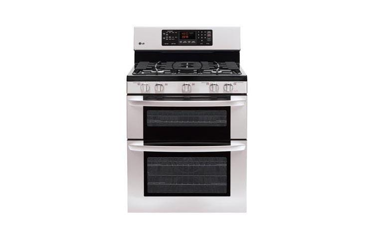 lg ldg3016st  gas double oven range with convection system