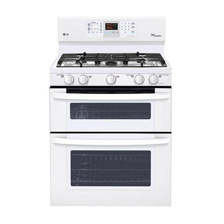 capacity gas double oven range with superboil burner and easyclean
