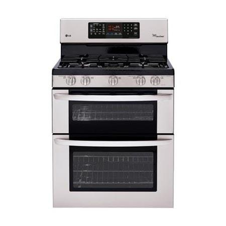 capacity gas double oven range with easyclean and intuitouch