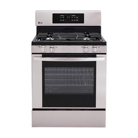 lg lrgst . cu. ft. capacity gas single oven range with, Kitchen