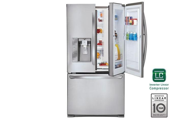 29 Cu Ft Ultra Capacity Door In 3 French Refrigerator W Dual Ice Makers