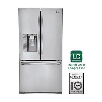 Lg lfx31925st 3 door french door smart cooling refrigerator lg usa super capacity 3 door french door refrigerator with smart cooling plus technology sciox Image collections