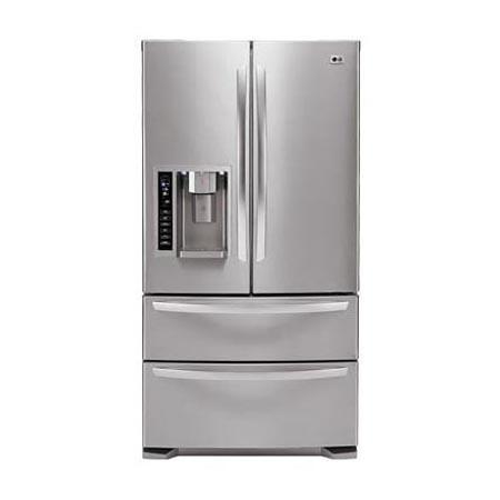 Delightful 4 Door French Door Refrigerator With Ice  And Water Dispenser (24.7 Cu.