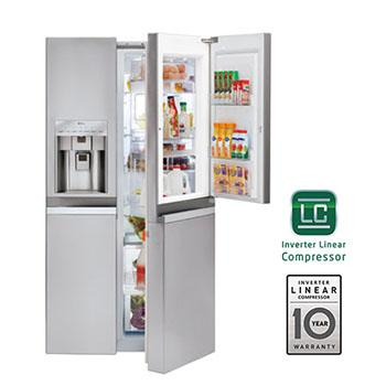 Lg Lsc22991st Large Side By Side Refrigerator Wdoor In Door Lg Usa