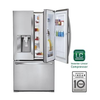 Super Capacity 3-Door French Door Refrigerator w/Door