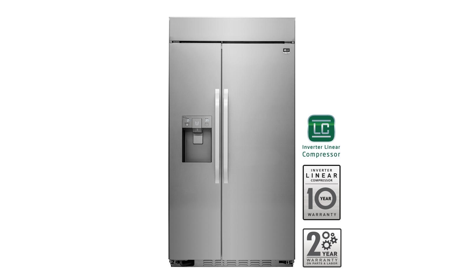 Largest Capacity Refrigerator Lg Lssb2791st Lg Studio Ultra Large Capacity Side By Side