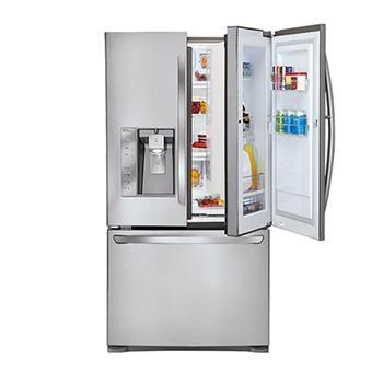 Super Capacity 3 Door French Door Refrigerator W/Door