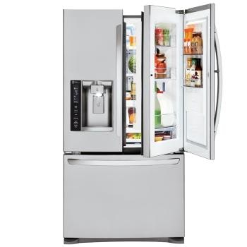 lg steel stainless item appliances water door refrigerator french kitchen with dispenser product cu refrigerators ft