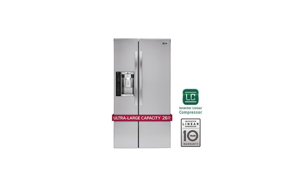 Lg Lsxs26326s Ultra Capacity Side By Side Refrigerator
