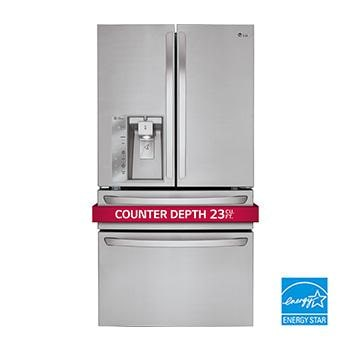 LMXC23746S_350 Thumb lg lmxc23746s large counter depth french door refrigerator lg usa  at crackthecode.co