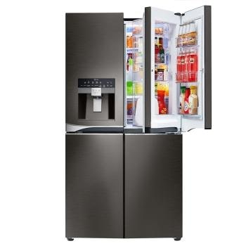 LG Black Stainless Steel Series 30 cu. ft. 4-Door Refrigerator with Door
