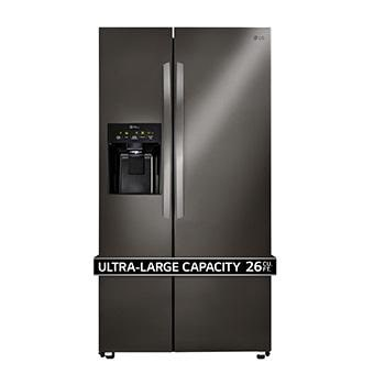 lg refrigerators side by side. lg black stainless steel series 26 cu. ft. ultra capacity side-by- lg refrigerators side by -