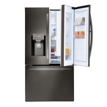 Lg door in door refrigerators award winning design lg usa lg black stainless steel series 28 cuft capacity 3 door refrigerator with sciox Image collections