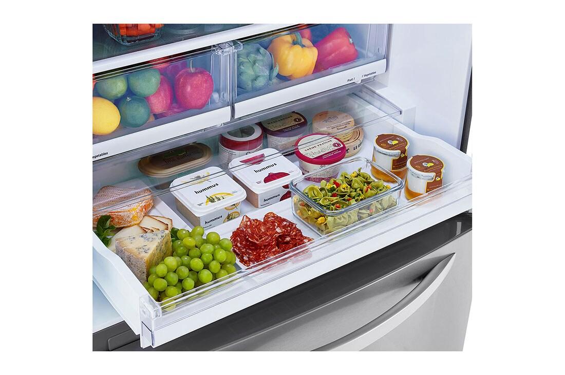 Lg Lrdcs2603s 26 Cubic Foot Bottom Mount Freezer Refrigerator Lg Usa