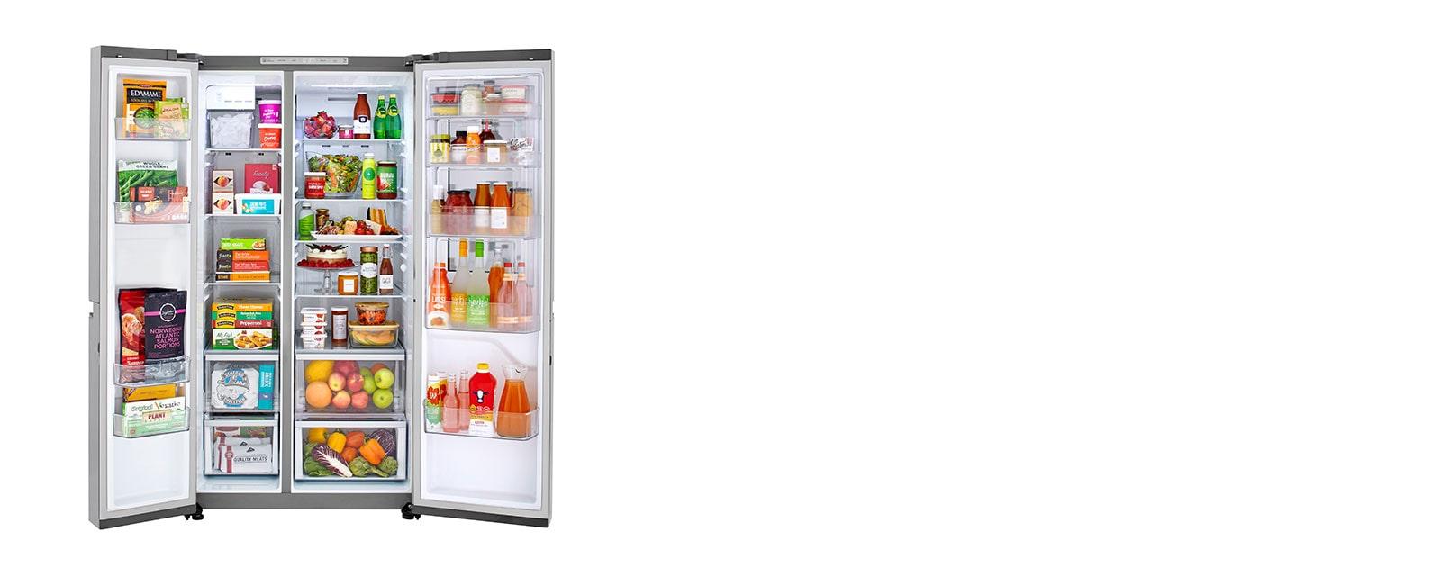 LG LRSES2706V refrigerator interior capacity