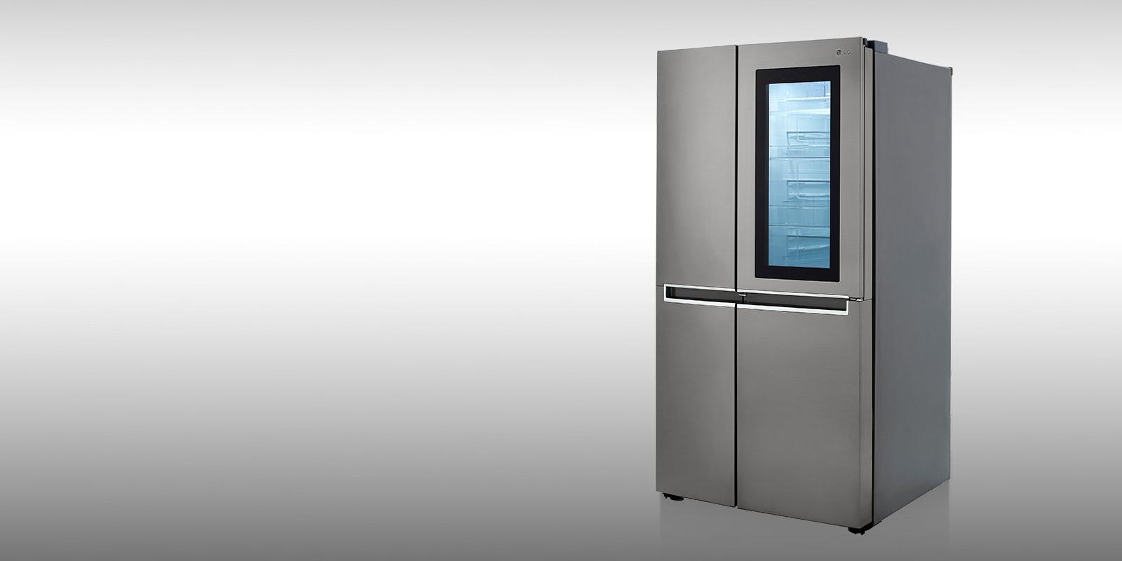 LG LRSES2706V refrigerator showcasing InstaView Door-in-Door feature