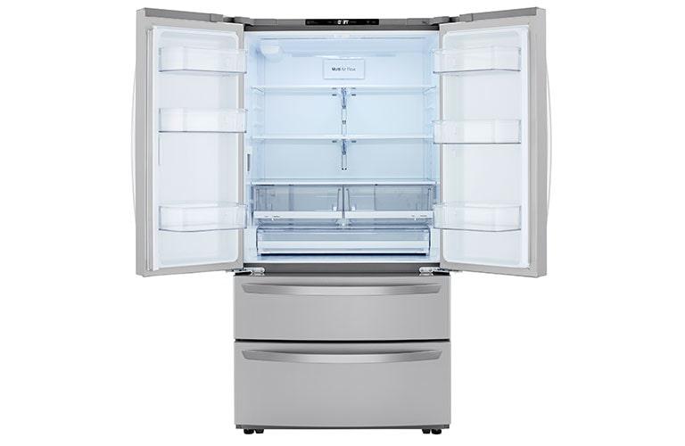 LG refrigerator interior