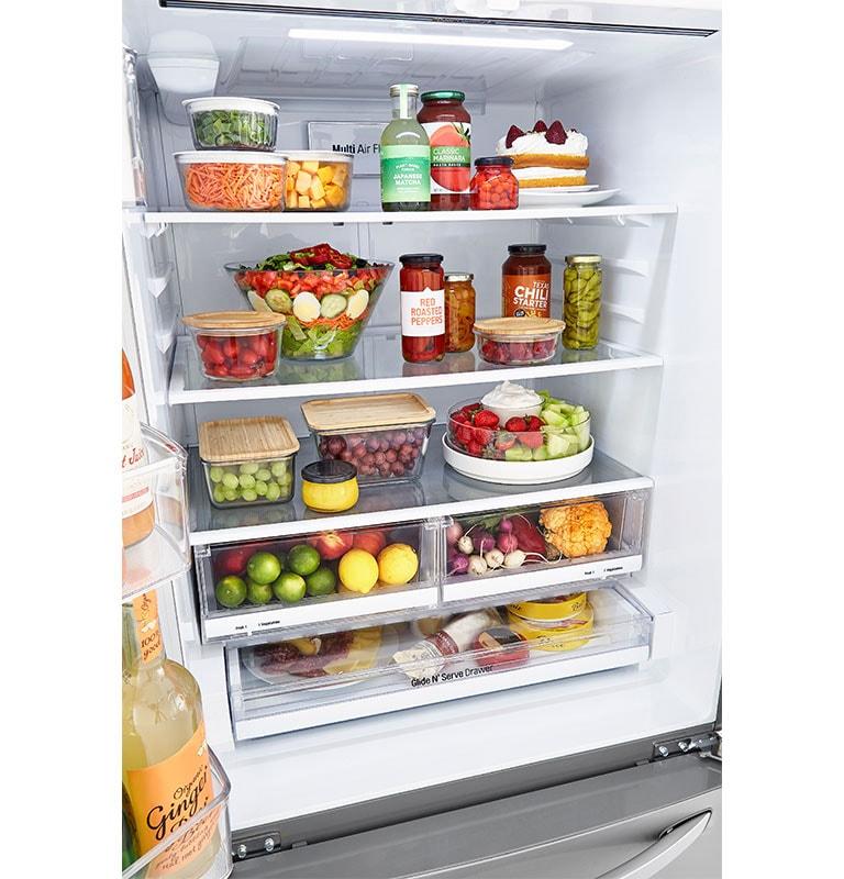 LG LRFCS25D3S refrigerator interior capacity