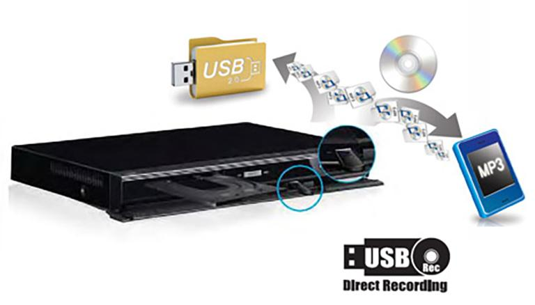 DVD Player with USB Direct Recording