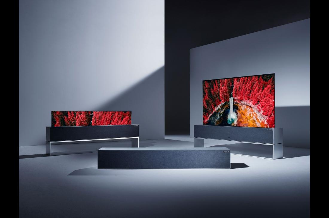LG OLED65R9PUA: R9 Rollable 4K OLED TV At CES 2019
