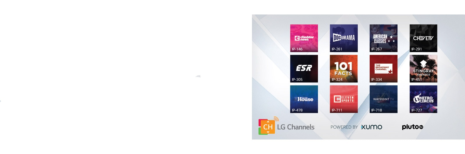 Thumbnails of LG Channel 12 titles