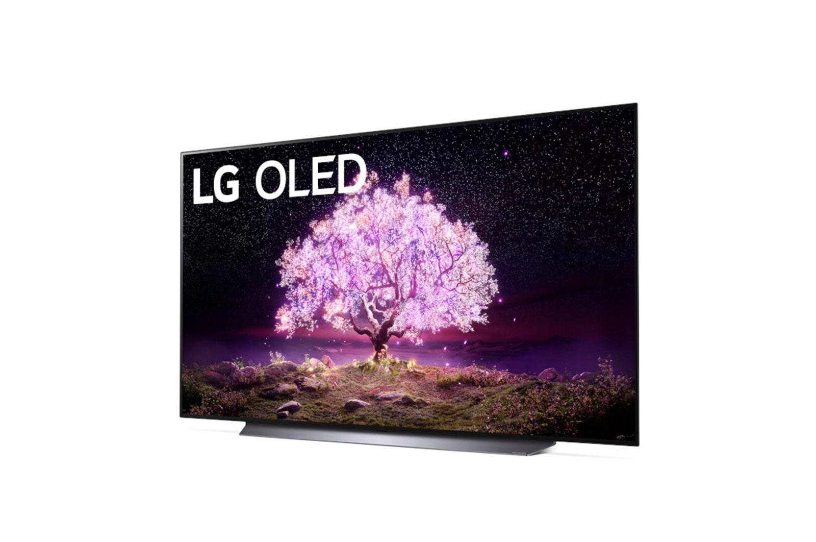 LG C1 77 inch Class 4K Smart OLED TV w/AI ThinQ® (76.7'' Diag), OLED77C1PUB