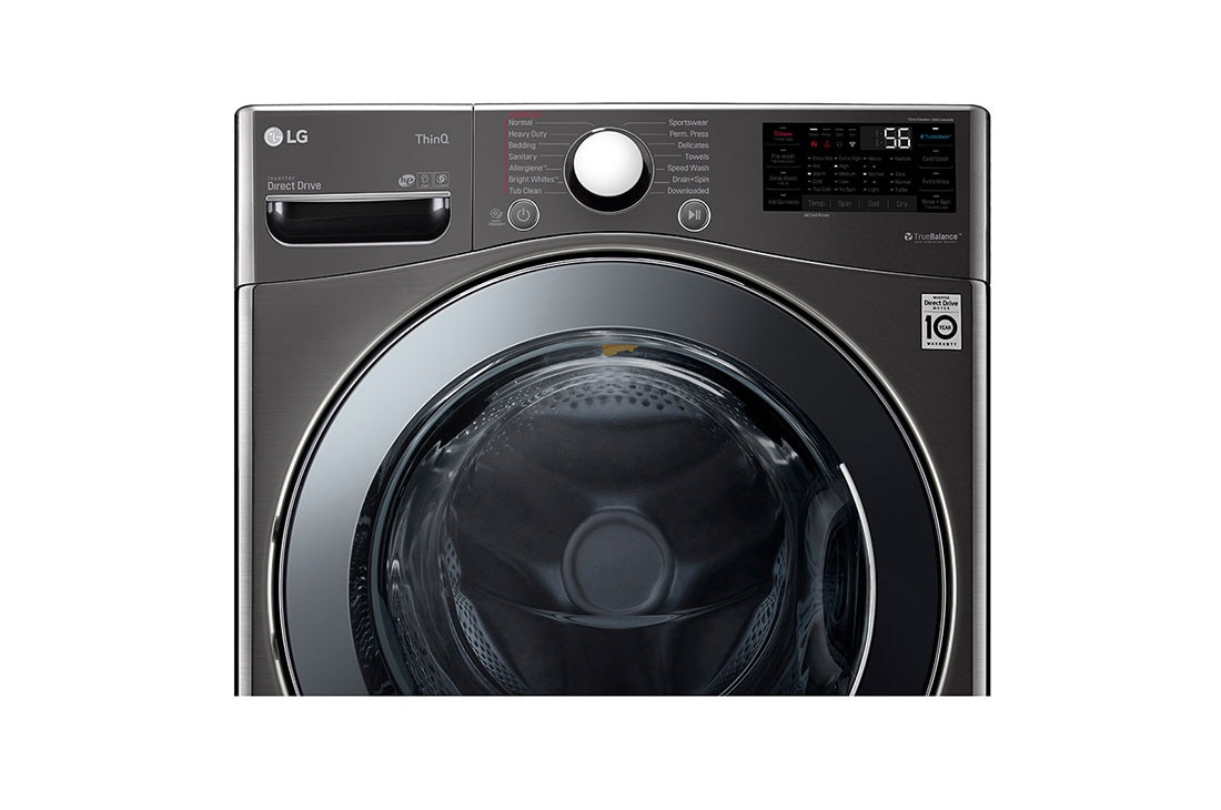 Lg Wm3998hba 4 5 Cu Ft Smart Wi Fi Enabled All In One Washer Dryer With Turbowash Technology Lg Usa