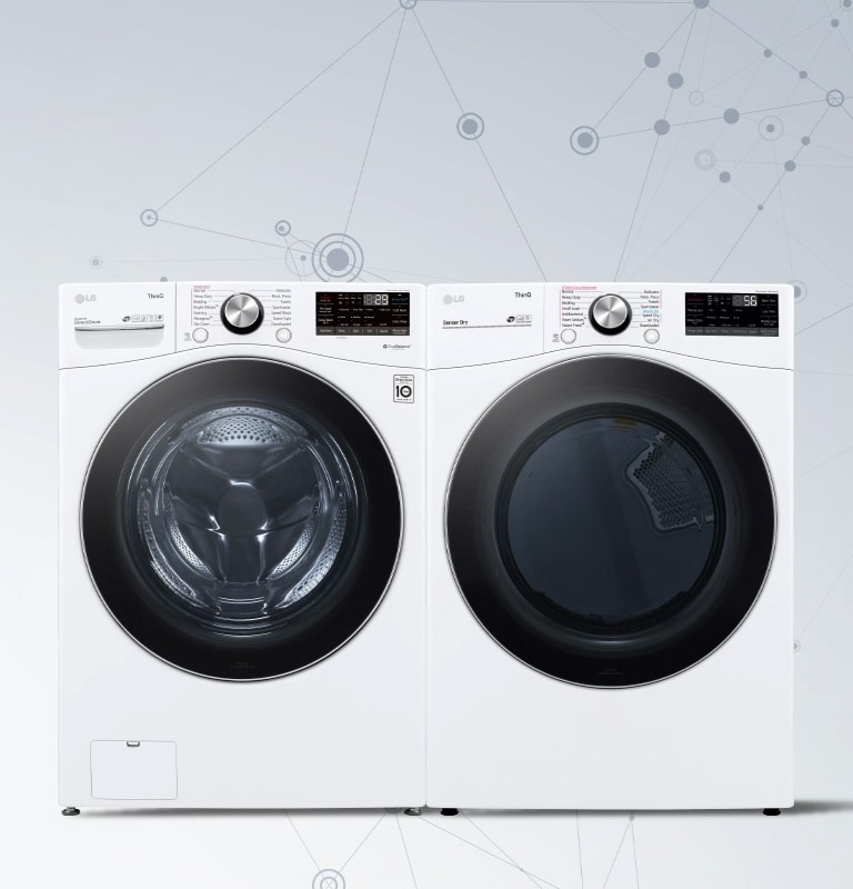 Washer and Dryer Side by side