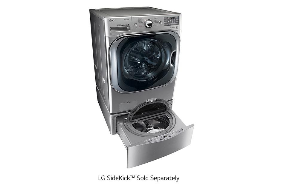 dimensions front to series sold load washing with a how shown separately pedestal washer machine lg laundry dryer bracket build