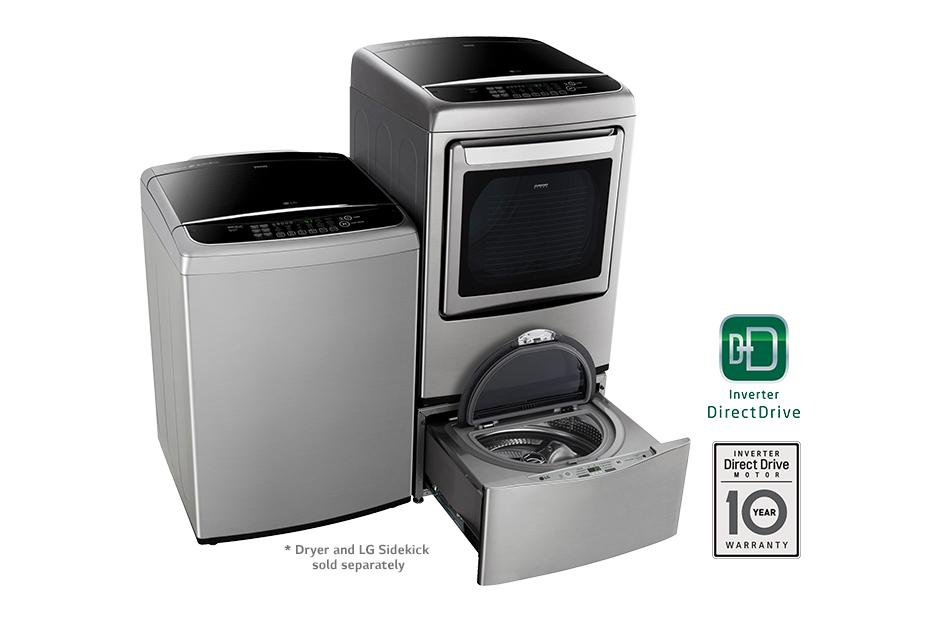 Lg Wt1701cv 4 9 Cu Ft Mega Capacity Front Control Turbowash Washer Lg Usa