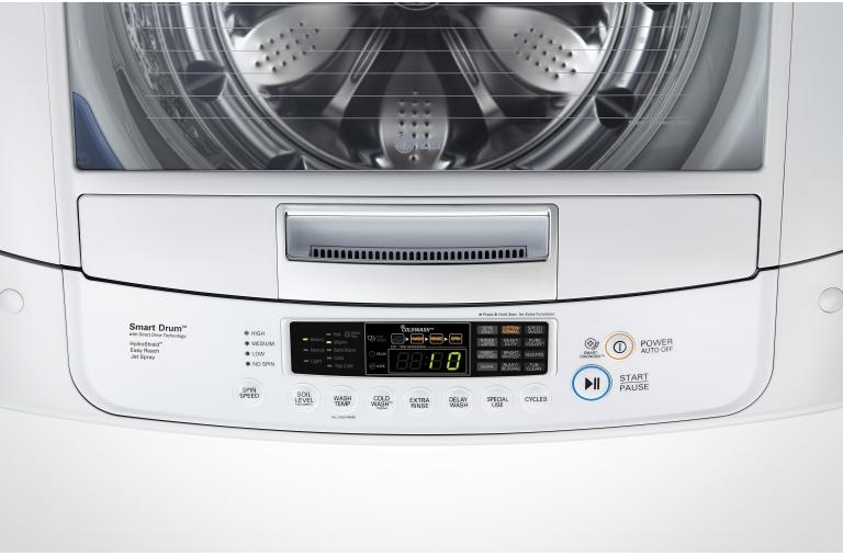 Lg Wt1301cw High Efficiency Front Control Top Load Washer