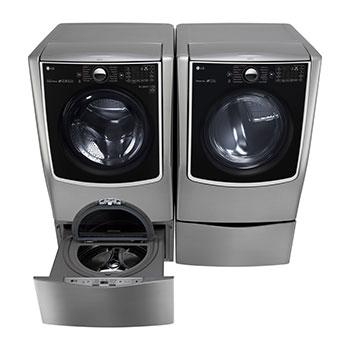6.2 Total Capacity LG TWINWash™  Bundle with LG SideKick™ and Gas Dryer1