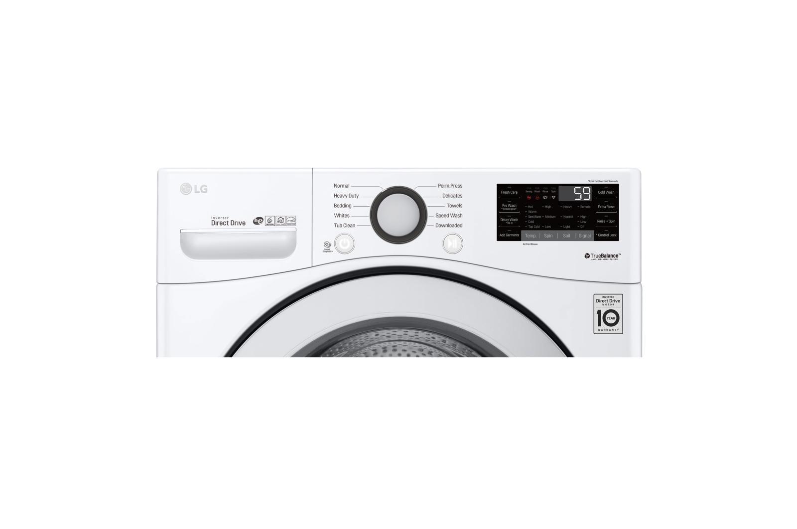Lg Wm3500cw 45 Cu Ft Ultra Large Capacity Front Load Washer Usa Washing Machine Motor Wiring Diagram Besides