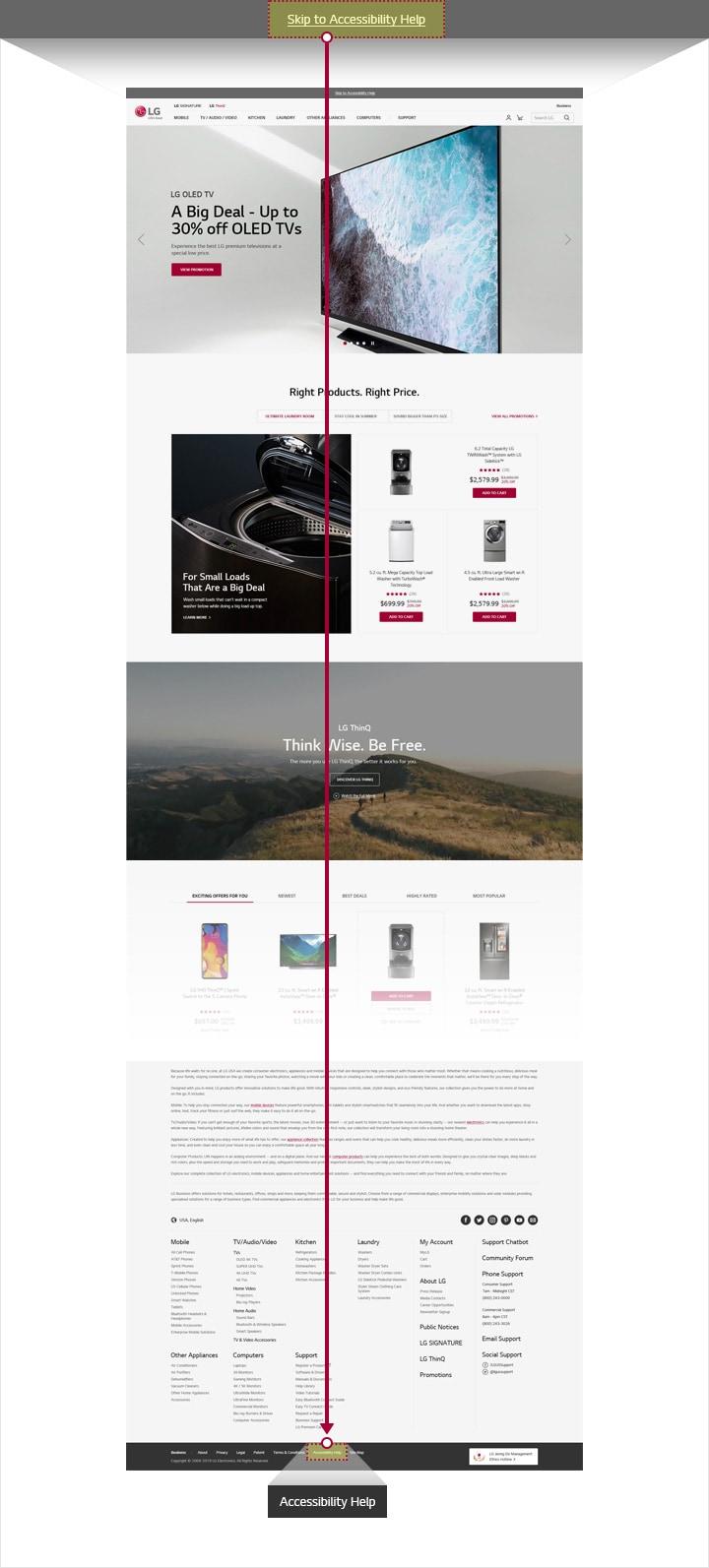LG Accessibility: Navigate LG com | LG USA