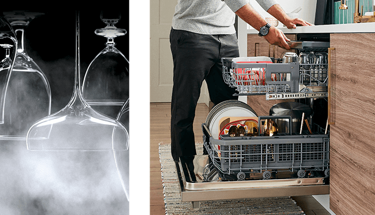 man loading dishwasher - for mobile
