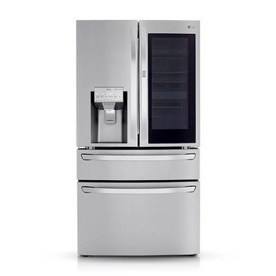 silver color LG instaview door-in-door refrigerator