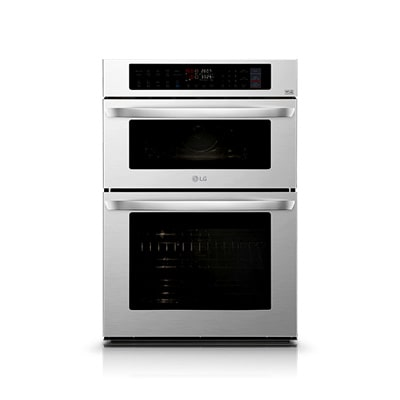 Metallic grey color LG thinq wall oven