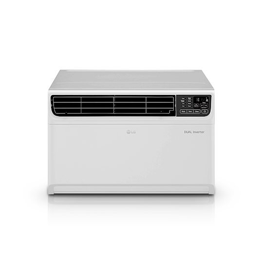 white color wall mount thinq air conditioner