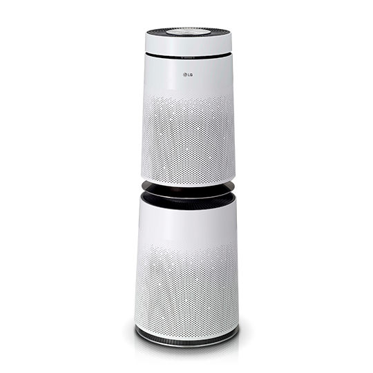 White color LG Puricare 360 thinq air purifier
